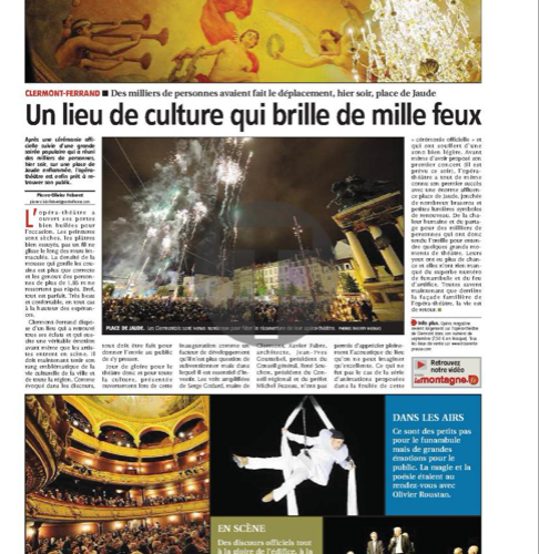Inauguration of the opera theater Clermont Ferrand
