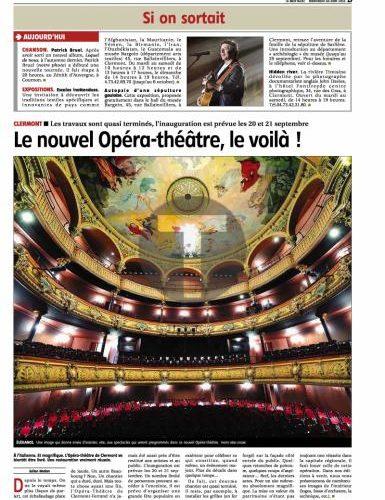 Fin des travaux de l'opéra de Clermont-Ferrand